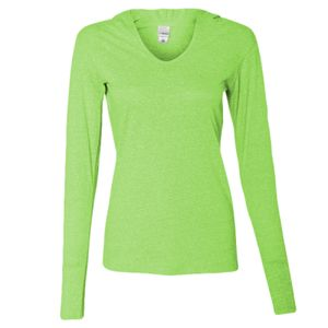 Women's Twisted Slub Jersey Hooded Pullover T-Shirt Thumbnail