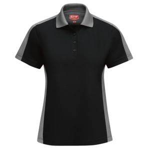 Women's Short Sleeve Performance Knit Two-Tone Polo Thumbnail