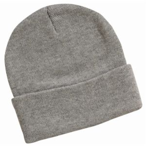 12 Inch Solid Knit Beanie Thumbnail
